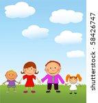 vector happy kids. | Shutterstock .eps vector #58426747