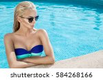 portrait beautiful phenomenal... | Shutterstock . vector #584268166