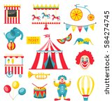 illustration collection... | Shutterstock . vector #584274745