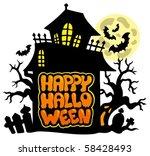 happy halloween theme 2  ... | Shutterstock .eps vector #58428493