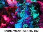 oil painting on canvas.... | Shutterstock . vector #584287102