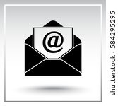 mail sign icon  vector... | Shutterstock .eps vector #584295295