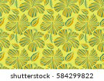 spring floral background. the... | Shutterstock . vector #584299822