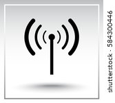 wireless sign icon  vector... | Shutterstock .eps vector #584300446