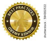 best practices winner award... | Shutterstock . vector #584302522