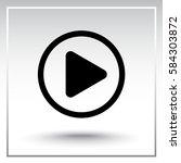 play button sign icon  vector... | Shutterstock .eps vector #584303872