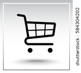 shopping cart sign icon  vector ... | Shutterstock .eps vector #584304202