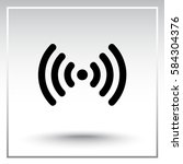 wireless sign icon  vector... | Shutterstock .eps vector #584304376