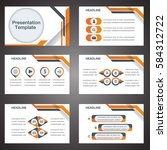 orange presentation template... | Shutterstock .eps vector #584312722