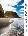 beach of s o miguel a ores  ... | Shutterstock . vector #584318362