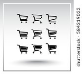 shopping carts sign icon ... | Shutterstock .eps vector #584319022