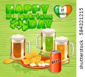 beer on st. patrick's day | Shutterstock .eps vector #584321215