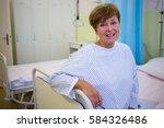 portrait of smiling senior... | Shutterstock . vector #584326486