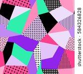 vector seamless creative...   Shutterstock .eps vector #584326828