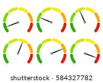 set of measuring icons on a... | Shutterstock .eps vector #584327782