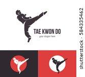 taekwondo logo template....   Shutterstock . vector #584335462