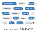 set of sms bubbles messages... | Shutterstock .eps vector #584336698
