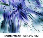 abstract fractal flower .... | Shutterstock . vector #584342782