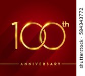 celebrating of 100 years...   Shutterstock .eps vector #584343772