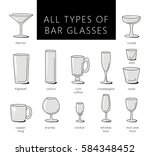 bar glasses vector icons set....