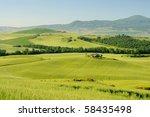 tuscany hills | Shutterstock . vector #58435498