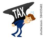 vector stock of a businessman... | Shutterstock .eps vector #584355682