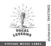 music label isolated on white... | Shutterstock .eps vector #584370802