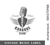 Music Label Isolated On White...