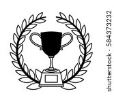 trophy award isolated icon | Shutterstock .eps vector #584373232