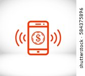 phone and money icon stock... | Shutterstock .eps vector #584375896