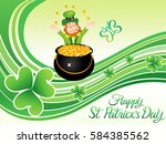abstract artistic st patrick... | Shutterstock .eps vector #584385562