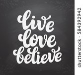 hand drawn typography text.... | Shutterstock .eps vector #584392942