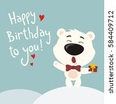 happy birthday to you  funny... | Shutterstock .eps vector #584409712