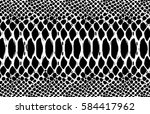 Snake skin pattern texture repeating seamless monochrome black & white. Vector. Texture snake. Fashionable print. Fashion and stylish background