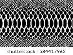 snake skin pattern texture... | Shutterstock .eps vector #584417962