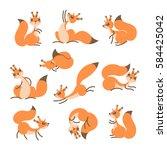 Cartoon Cute Squirrel. Little...