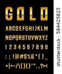 gold letter set    Shutterstock .eps vector #584425825