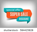 super sale banner  discount tag ... | Shutterstock .eps vector #584425828