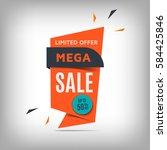 mega sale banner design.... | Shutterstock .eps vector #584425846