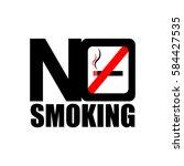 no smoking style design | Shutterstock .eps vector #584427535
