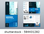 business tri fold brochure... | Shutterstock .eps vector #584431282