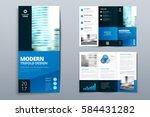 business tri fold brochure... | Shutterstock .eps vector #584431282