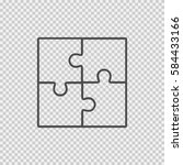 puzzle vector icon eps 10 on... | Shutterstock .eps vector #584433166