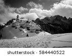 View Of Monte Lussari In Black...