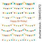 multicolored bright buntings... | Shutterstock .eps vector #584451472