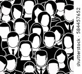 the crowd of abstract people ... | Shutterstock .eps vector #584457652