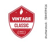 vintage badge tag banner for... | Shutterstock .eps vector #584459416