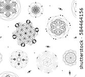 sacred geometry seamless pattern | Shutterstock .eps vector #584464156