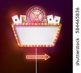 vector illustration of casino... | Shutterstock .eps vector #584465836