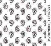 seamless paisley pattern | Shutterstock .eps vector #584467396